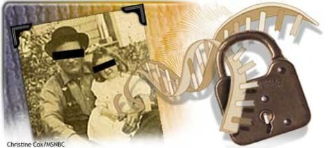 Image: DNA and lock
